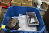 Plastic Bin W/ Misc Items