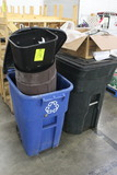 Group Of Assorted Trash Cans