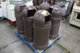 Pallet Of Torpedo Trash Cans