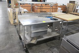 5' Stainless Table W/ Hot Wells And Overshelf