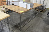 8' Wood Top Bakery Table