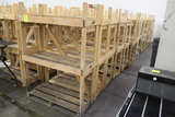 Large Group Of 4' Wide Wooden Merchandisers