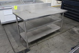 5' Stainless Steel Table W/ Two Undershelves