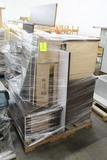 Pallet Of Wooden Desk Parts