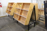 Double Sided Wooden Cubby Merchandisers