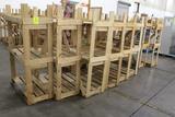 (9) 4' Wide Wooden Merchandisers