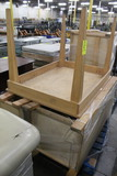 Wooden Table And Wooden Merchandisers