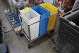 Three Compartment Portable Ingredient Bin