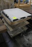 3' Wooden Merchandiser W/ 6' Plastic Folding Table