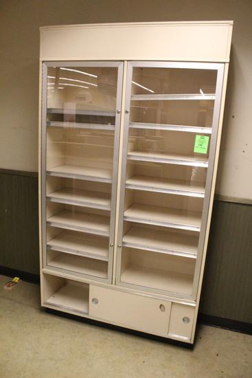 Locking Glass Door Cabinet