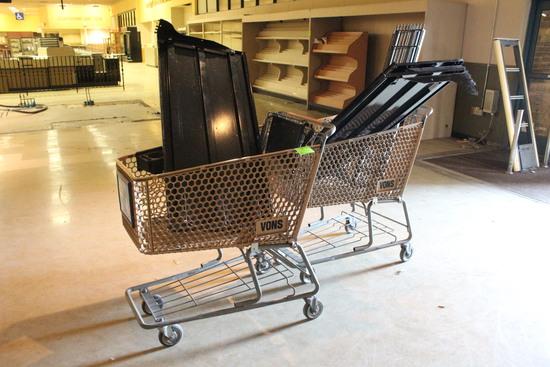 Shopping Carts W/ Case Shelves