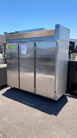 McCall 3 door stainless freezer