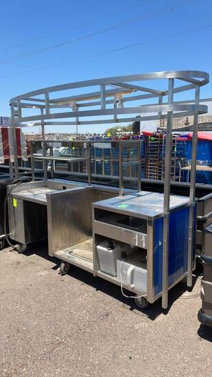 8ft stainless service cart