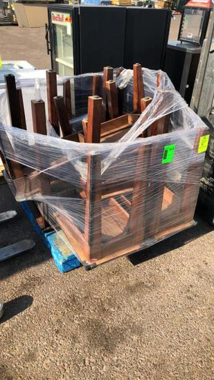 Pallet Of Assorted Wooden Tables