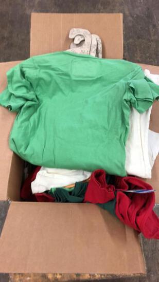 Box Of Fed By Threads Tees W/ Cardboard Hangers