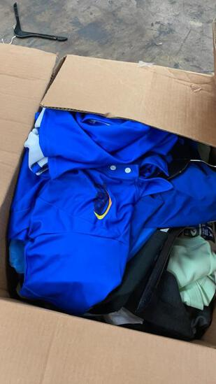 Box of assorted T Shirts and Polos