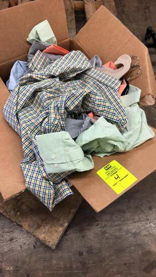 Box Of L/S Button Ups And Athletic Polos