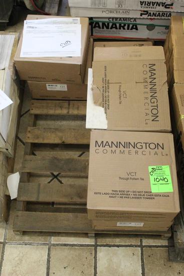 """Pallet Of Mannington Commercial 12"""" x 12"""" x 1/8"""" Tile"""