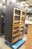 Four Door Cigar Merchandising Cabinet