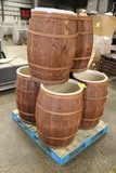 Wooden Barrel Style Bulk Merchandisers
