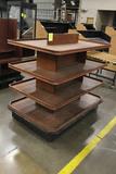 4 Tier Wooden Merchandiser
