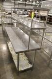 6' Stainless Steel Table W/ Overshelf