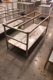 6' Polytop Table Frame W/ Undershelf