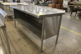 6' Stainless Steel Table W/ Undershelf