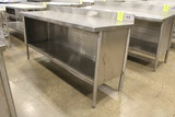 6' Stainless Steel Table W/ Storage