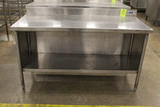 5' Stainless Steel Table W/ Storage