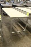 5' Polytop Table W/ Backsplash