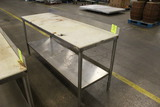 6' Polytop Table W/ Backsplash