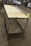 8' Polytop Table W/ Backsplash