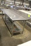 8' Stainless Steel Table W/ Undershelf