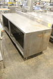 8' Stainless Steel Table W/ Storage