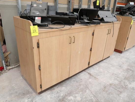 wooden cabinet w/ doors