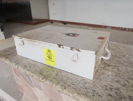 first aid kit, empty box