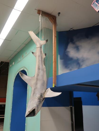 8' hanging fiberglass fish
