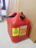 gasoline container, plastic
