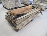 pallet of Madix uprights & new front toe kick