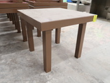 square wooden merchandising table