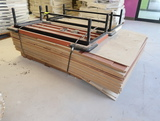 pallet of Madix shelving back panels