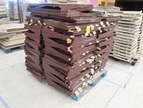 pallet of Madix shelving, brown