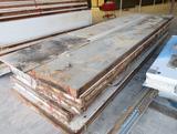 stack of walk-in cooler panels