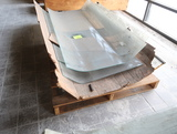 4) pieces of tempered curved glass