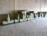 restaurant booth seating- all one lot