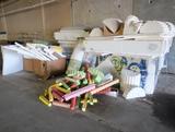 quantity of styrofoam trompe l'oeil 3-D building materials