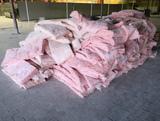 pile of fiberglass insulation