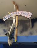 6' hanging fiberglass fish, w/