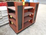 4-sided wooden merchandiser
